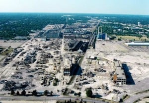 The Southend portion of the 452-acre Buick City site, currently an EPA disaster area.