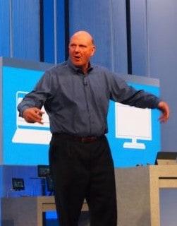 Retiring CEO of Microsoft, Steve Ballmer.