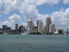 Detroit Skyline, by Brent Rostad @ Flickr.