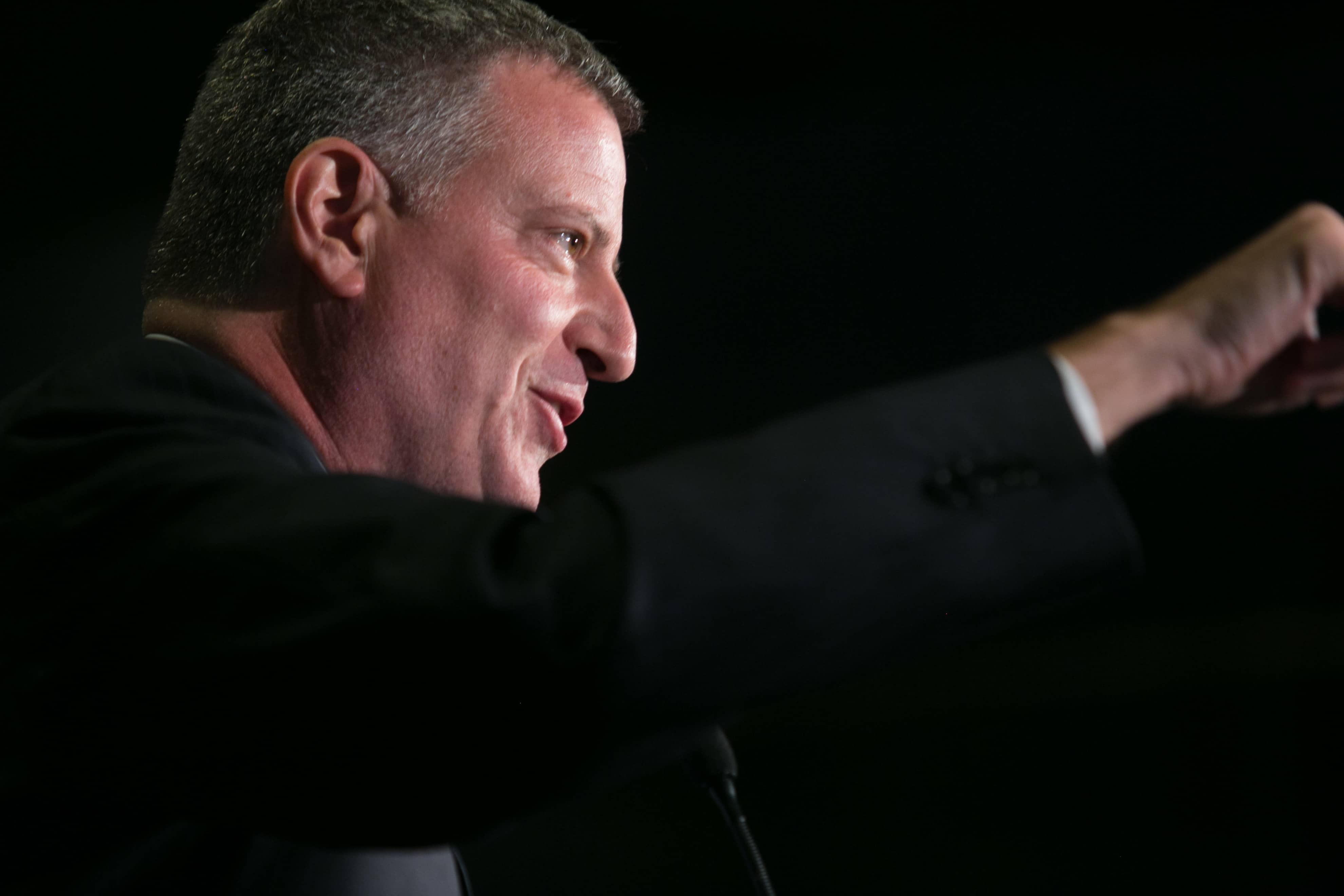 New York City Mayor Bill De Blasio, honored at Campaign for America's Future 2014 awards gala at Arena Stage on Tuesday, October 14, 2014.