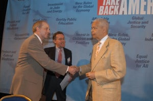 Hickey intros Julian Bond and Wes Boyd, MoveOn founder